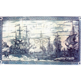 Ship Whale Scene Mural 11×6 Tiles