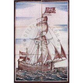 Sailing Boat Mural 2×3 Tiles