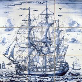 Three Masted Ship Panel 3×3 Tiles