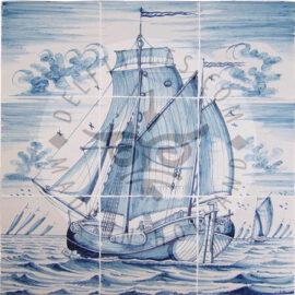 Sailing Boat Mural 3×3 Tiles