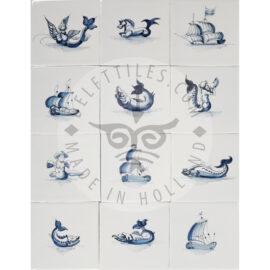 Mix Fish & Boat Tiles (ZW3)