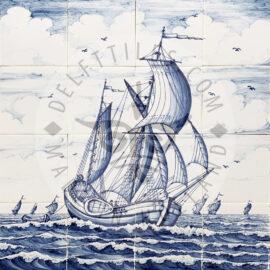 Sailing Ship 4×4 Tiles