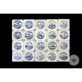 Antique Delft Tiles Set #11
