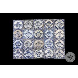 Antique Delft Tiles Set #30 – Three Tulip Tiles