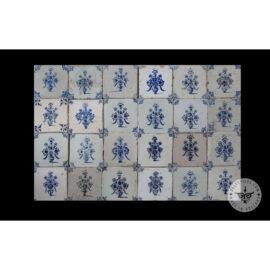 Antique Delft Tiles Set #31 – Flower Pots