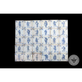 Antique Delft Tiles Set #42 – Musketeer People Tiles