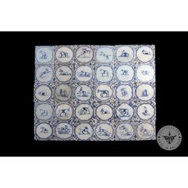 Antique Delft Tiles Set #45 – Animals Acoloade Tiles