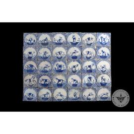 Antique Delft Tiles Set #47 – Animal Tiles
