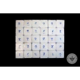 Antique Delft Tiles Set #34 – Cupid Tiles