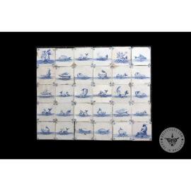Antique Delft Tiles Set #51 – Fish Mermaid Tiles