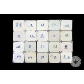 Antique Delft Tiles Set #52 – Children Tiles