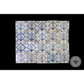 Antique Delft Tiles Set #54 – Tulip In Square Tiles