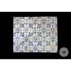 Antique Delft Tiles Set #56 – Flowers Square