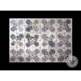 Antique Delft Tiles Set #57 – Sepia Rosets