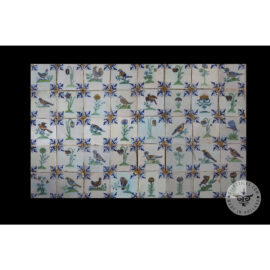Antique Delft Tiles Set #60 – Flower Bird Tiles