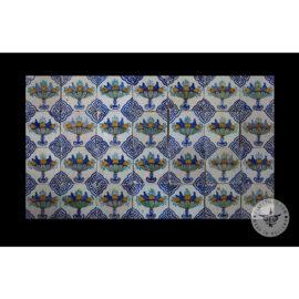 Antique Delft Tiles Set #61 – Polychrome Fruit Bowl