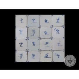 Antique Delft Tiles Set #62 – Cupid Tiles