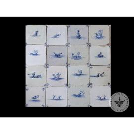 Antique Delft Tiles Set #65 – Sea Creatures