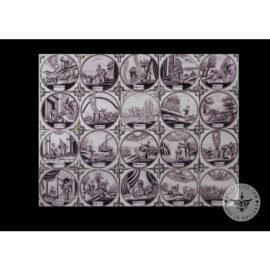 Antique Delft Tiles Set #68 – Sepia Biblical Tiles