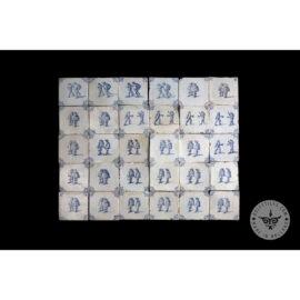 Antique Delft Tiles Set #37 – Noblemen Tiles