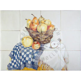 Table With Apples & Pears Panel 4×3 Tiles (HF12c)