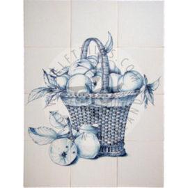 Fruit Basket Apples Panel 3×4 Tiles (FM12g)