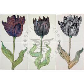 'Black' Tulips 1×2 Tiles (HT2_a/b/c)
