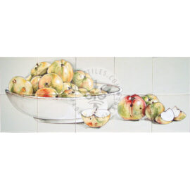 Bowl With Apples Mural 5×2 Tiles (HF10a)