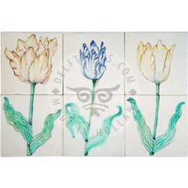 17th Century Tulips 1×2 Tiles (HT2_p/q/r)
