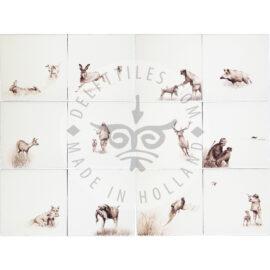 Hunting Scenes Tiles (HDJ)