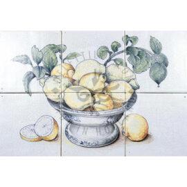 Bowl With Lemons Panel 3×2 Tiles (HF6a)