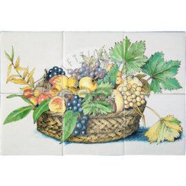 Mixed Fruit Basket Panel 3×2 Tiles (HF6d)
