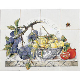 Fruits On Marble 4×3 Tiles