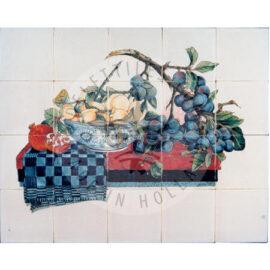 Plum Branch Fruit In Bowl Panel 5×4 Tiles (HF20b)