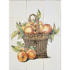 Fruit Basket Apples Panel 3×4 Tiles (FM12g_mc)