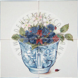 Blackberries & Raspberries Panel 2×2 Tiles (HF4d)