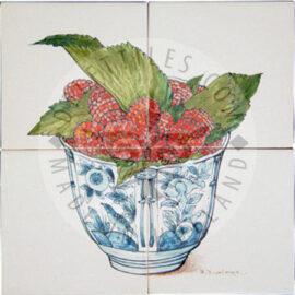 Raspberries In Bowl Panel 2×2 Tiles (HF4c)