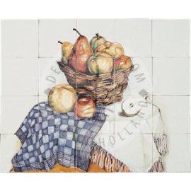 Rush Basket Apples & Pears Panel 5×4 Tiles (HF20a)