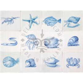 Beach Marine Life Animal Tiles (HDZ)