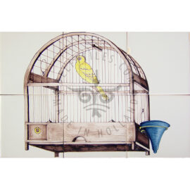 Bird Cage Sepia 3×2 Tiles