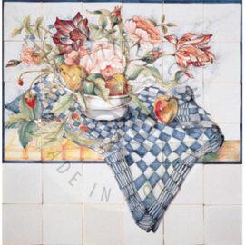 Tulips & Fruit Bowl 6×6 Tiles (HF29a)