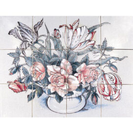 Tulips Flowers Bouquet 4×3 Tiles (HB12b)