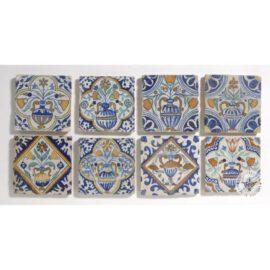 Early 17th Century Flower Pot Tiles #B13