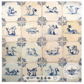 Mermaid Mermen Decorated Tiles #S8