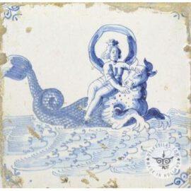 Mythological Antique Delft Tiles #S9