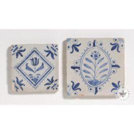 Two 17th Century Flower Tiles #B1