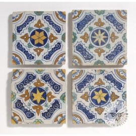 Four Ornamental Antique Dutch Tiles #O1