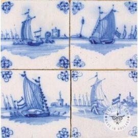 Antique Sailing Boat Tiles #S2