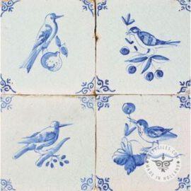 Antique Birds On Fruit Delft Tiles  #D7
