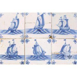 Antique Sailing Boat Tiles #S3